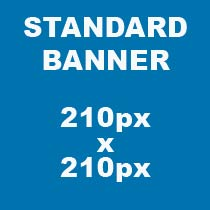 media banner sizes standard 210px x 210px